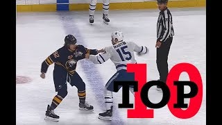Top Ten NHL Hockey Fights of March 2018