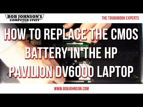 How to replace the CMOs battery in the HP Pavilion DV6000 Laptop