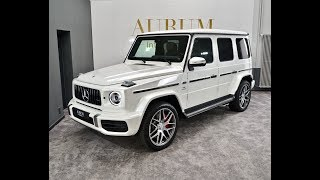 MERCEDES-BENZ G 63 AMG (2019) WHITE/TARTUFOBROWN EXTERIOR Walkaround by AURUM International