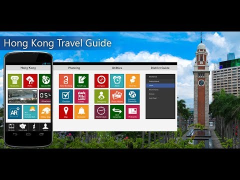 Hong Kong Travel Android App Promo - Pangea Guides