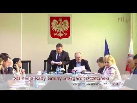 XII Sesja Rady Gminy Stargard Szczeciński