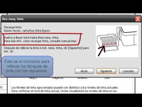 Como rellenar y agregar códigos de las tintas Epson L200