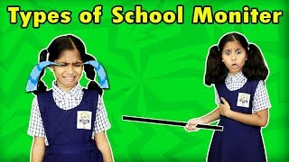 Types Of Monitors In School | Funny Video | Pari's Lifestyle