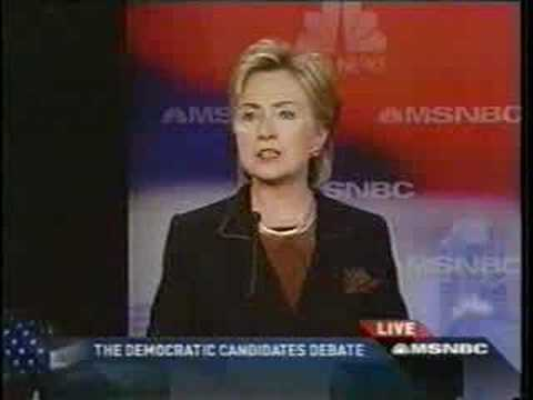 DEMOCRAT DEBATE HILLARY CLINTON ON TAXES