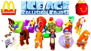 2016 McDONALD'S ICE AGE 5 MOVIE HAPPY MEAL TOYS SET 12 ICE AGE COLLISION COURSE COLLECTION REVIEW