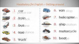 Vocabulary for English - Getting around!