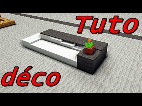 Minecraft tuto d co int rieur les si ges youtube for Bar interieur maison