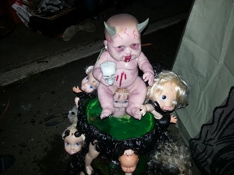 build a haloween baby fountain