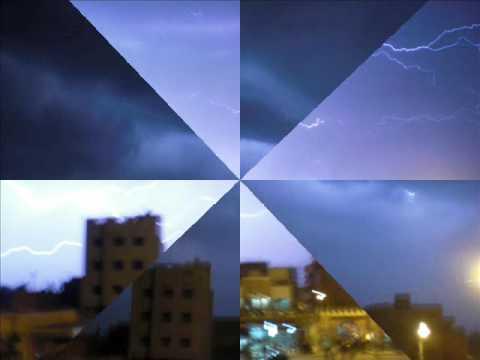 البرق في سماء وادي زم 19:00   oued zem maroc 19/03/2009