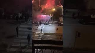 Scontro tra i tifosi del Messina e i tifosi del Bari