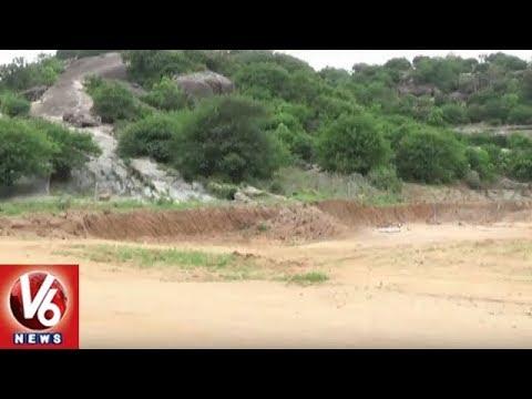 Nampally Gutta Lakshmi Narasimha Temple Lands Encroachment By Realtors | V6 News