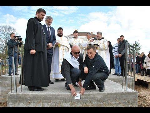 Освештавање темеља цркве у Ћаваринама (27.04.2014.)