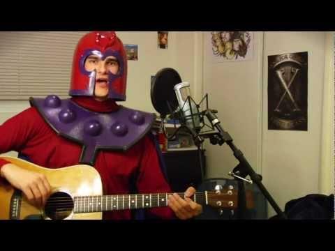Magneto cantando Born This Way al estilo mutante