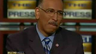 President Barack Obama says Whazzup (Whats up) to Michael Steele and that he is in the heezy