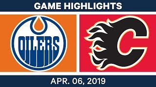 NHL Game Highlights | Oilers vs. Flames – April 06, 2019