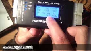 TESTER para fuente ATX - POWER GOOD ATX POWER SUPPLY TESTER - www.logeek.net