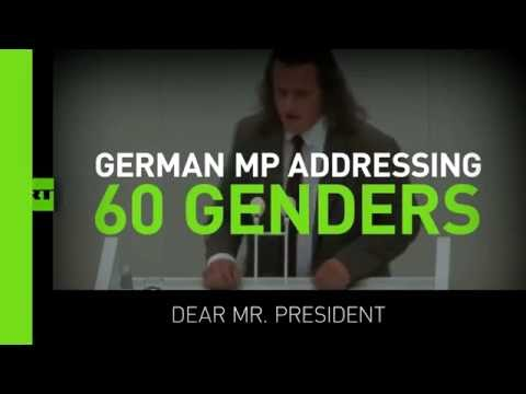 German MP spends 72 seconds addressing every possible gender while opposing diversity bill