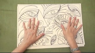 ASMR Doodle: Eye See You (ASMR trigger sounds, tingles, calm, Pursuit Curves, line drawing)