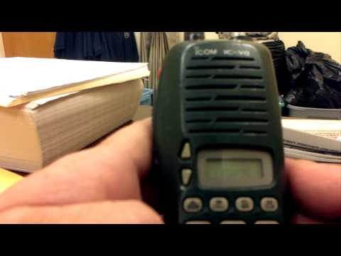 Programming an icom ic-v8 2m radio