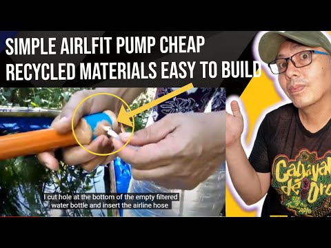 Simple airlift pump this sample is just for small koi pond you need to know