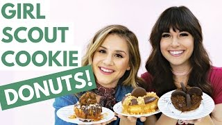 DIY Girl Scout Cookie DONUTS! (TRY THE TREND) | Hollywire