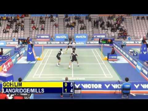 R32 - MD - Goh V S. / Lim K.W. vs C.Langridge / P.Mills - 2014 Korea Badminton Open