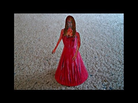 "Paper Model of Carrie White from the Movie ""Carrie"""