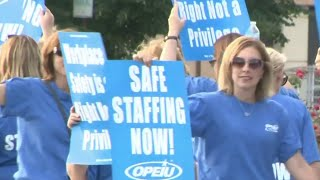 Nurses at McLaren Macomb Hospital in Mount Clemens demand new contract
