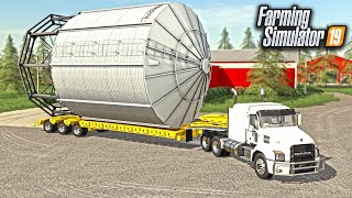 BUYING A GIANT GRAIN BIN FOR THE FARM! (ROLEPLAY) | FARMING SIMULATOR 2019