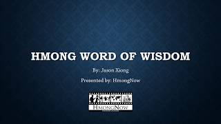 Hmong Word of Wisdom