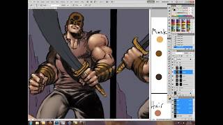 Photoshop Comic Book Coloring of Grimm Fairy Tales page