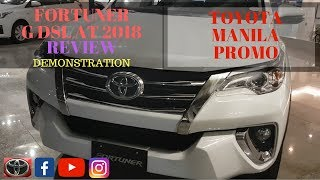 TOYOTA FORTUNER G DSL MT 2018 | REVIEW | DEMONSTRATION