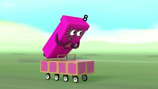 Numberblocks Numberblock Rally S03E12 2018 learn the number Preschool animation