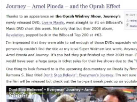 Journey  -  Arnel Pineda  -  And The Oprah Effect video