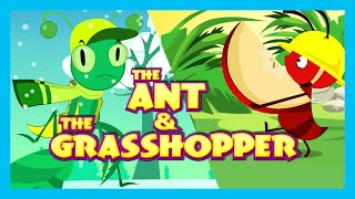The Ant and The Grasshopper Story (English Short Story for Kids)