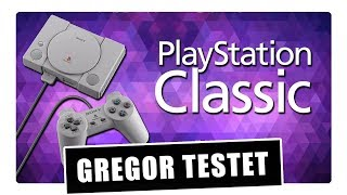 Gregor testet Sony PlayStation Classic Mini-Konsole (Review / Test)