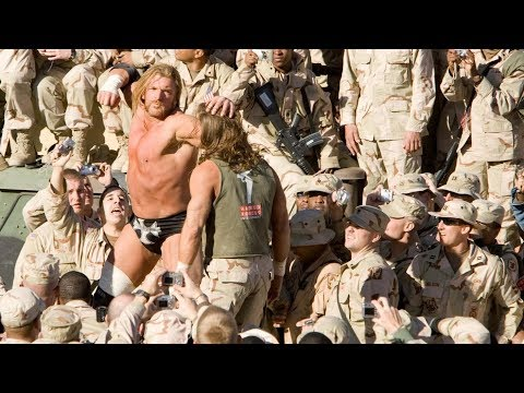 Shawn Michaels vs Triple H Boot Camp match -- WWE Tribute to the Troops 2005