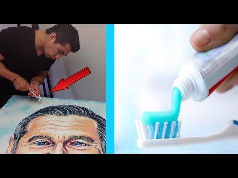 Toothpaste Art by Cristiam Ramos