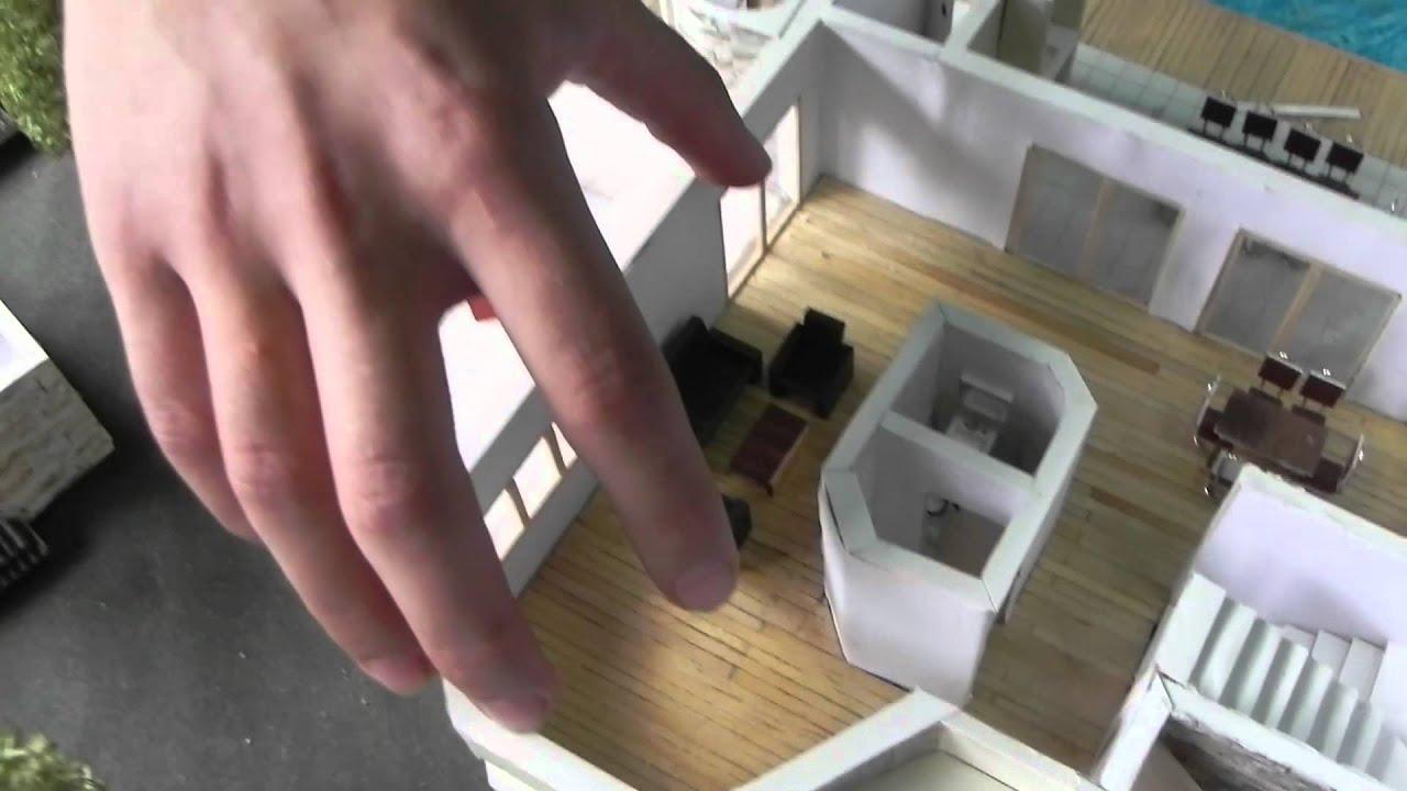 D a de la educaci n t cnica maqueta de casa de dos plantas for Casas con escaleras por dentro