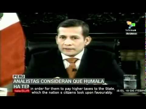 President Humala has 60% approval rate after first 100 days