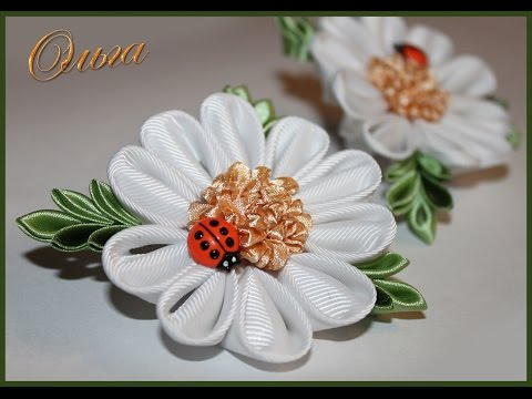 Лепестки цветов из атласных лент мастер класс