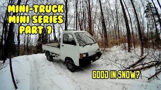 Mini Truck, HiJet vs Jeep Wranglers, first snow test ride Mini series HiJet (Part 7)