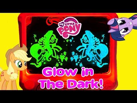 My Little Pony Color 'n Glow 3D Pinkie Pie Fluttershy Neon MLP Friendship Is Magic Glowing Art