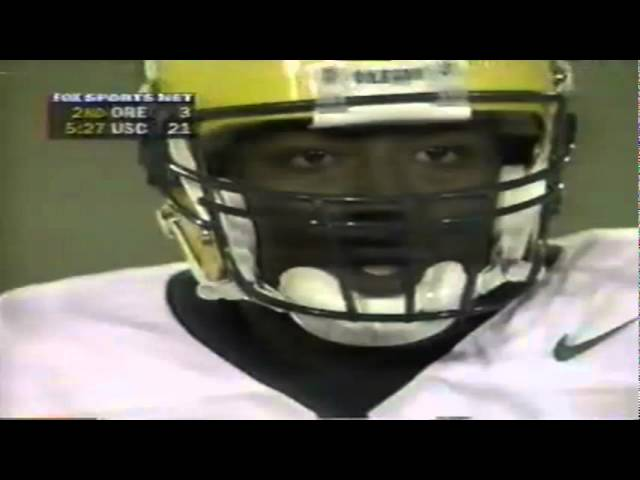 Oregon TE Aj Jelks 14 yard catch vs. USC 10-25-1997