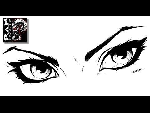 Draw Comics Woman's Eyes