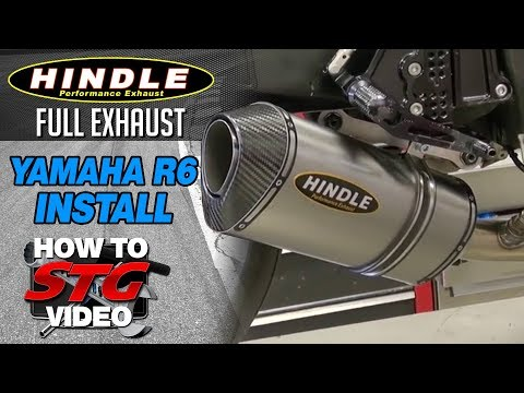 Hindle Full Exhaust Install on a 2008 Yamaha YZF-R6 from Sportbiketrackgear.com