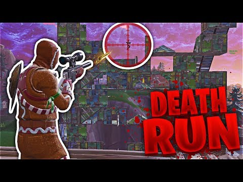 INSANE FORTNITE SNIPER DEATH RUN!! (Playgrounds Minigame)