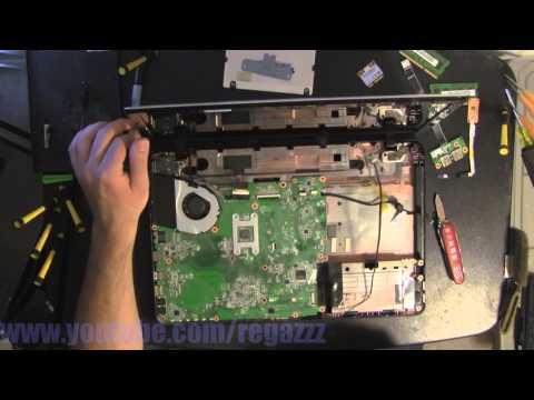 TOSHIBA L755  take apart video. disassemble. howto open (nothing left) disassembly disassembly