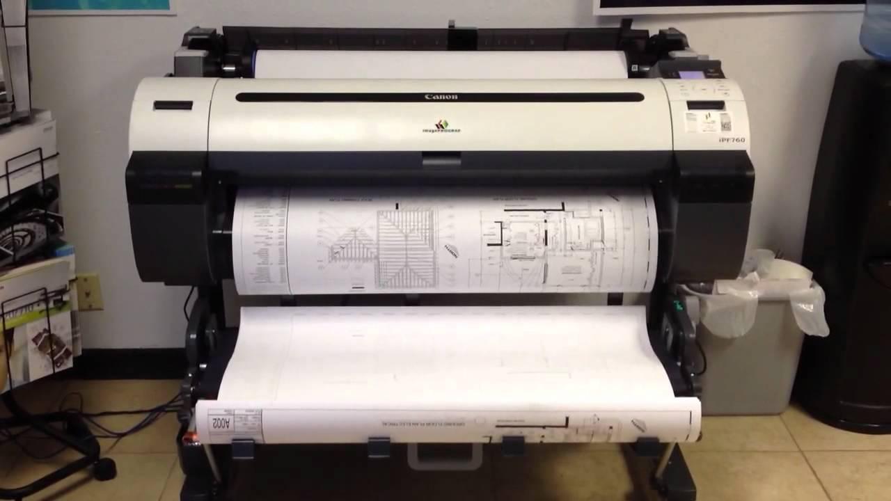 Plotter Printers Canon Printer Plotter Demo