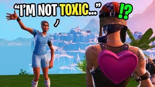 I played with the NICEST Soccer Skin I ever met in Fortnite... (he's SUPER friendly)